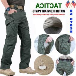 US Soldier Tactical Waterproof Pants Mens Cargo Work Pants C