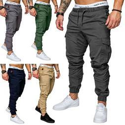 US STOCK Mens Slim Fit Straight Leg Trousers Casual Pencil J