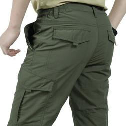 US Men's Pants Cargo Tactical Work Casual Combat Quick Dry O
