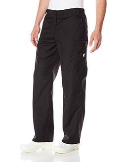 U.S. Polo Assn. Men's Utility Cargo Scrub Pant, Black, Mediu