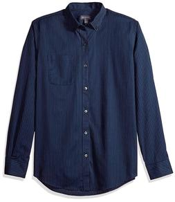 Van Heusen Men's Wrinkle Free Twill Long Sleeve Button Down