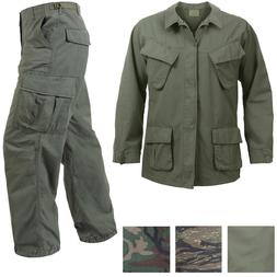 Vietnam Jungle Fatigues Military Uniform Vintage Army BDU Ri