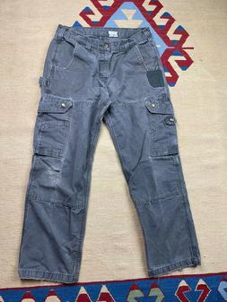 Vtg Carhartt Cargo Work Pants Size 32x30 Workwear
