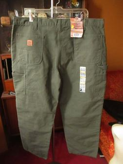 washed duck work dungaree flannel lined pants