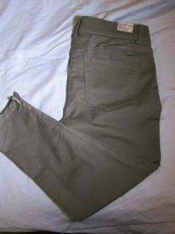 "Wit & Wisdom Women's Jeans Size 10 P inseam 24""  Olive Cargo"