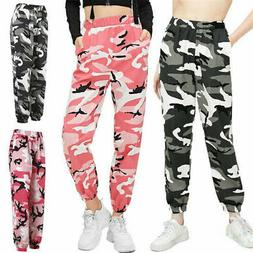 Women Casual Pants Military Army Camouflage Camo Cargo Trous