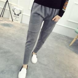 Women New Arrival Casual Knitting Cotton Harem Pants Loose S
