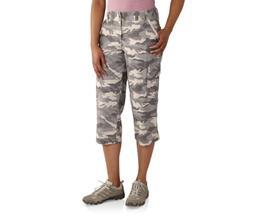 Women's Carhartt Camo Cropped Gray Cargo Pants Size 18 NWT