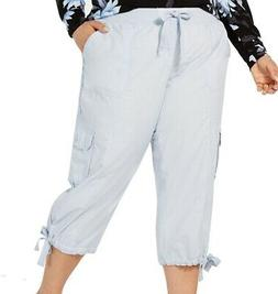 Calvin Klein Women's Cargo Pants Blue Size 2X Plus Capris Co