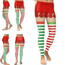 Women's Christmas Costume Leggings Workout Running Tights Yo
