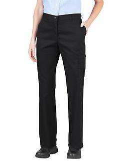 Dickies Women's Premium Relaxed Straight Cargo Pants, Black,