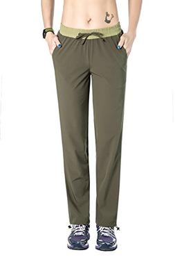 Unitop Women's Quick Dry Cargo Trekking Pants with Drawstrin