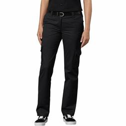 Dickies Women's Relaxed Fit Stretch Cargo Straight Leg Pant,