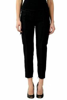 """Dsquared2 """"Women's Silk Wool Flat Front Cargo Pants US 2 IT"""