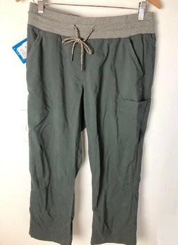 Columbia Women's Size M Capri Pants Green/Gray Gavin Ridge C