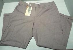 Dockers Women's Slim Straight Leg Gray Stretch Capris Pants
