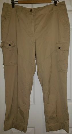 RALPH LAUREN Women's Soft Tan Cargo Pants Size 14