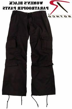Women's Vintage Military Paratrooper Fatigue Cargo Pants 398