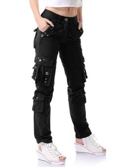 OCHENTA Women Workwear Uniform Combat Cargo 8 Pockets Securi