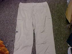 Adidas Womens Cargo Capri Dark Bone/Runner White Pants Size