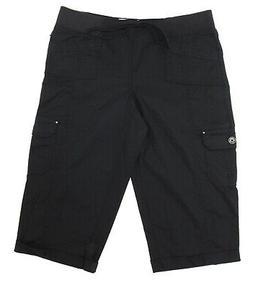 womens cargo capri pants w drawstring waist