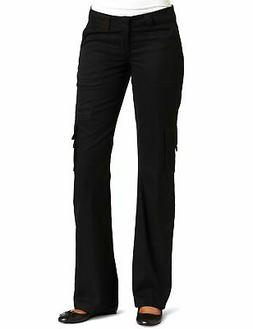 Dickies Womens Cargo Pants Black Size 12 R Relaxed Fit Strai