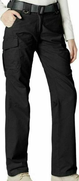 CQR Womens Hiking Cargo Pants UPF 50+ Flex Tactical w Multi