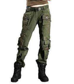 Womens New Combat Camouflage Pants Cargo Military Camo Casua