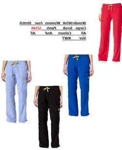 WonderWink Womens Scrubs Four Stretch Cargo Pants 5214A All