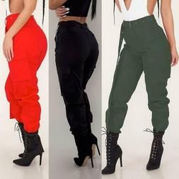 Womens Cargo Trousers Casual Pants Military Army Combat Soli