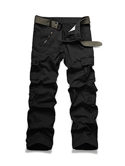 OCHENTA Men's Outdoor Woodland Military Cargo Pant #022 Blac