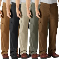 Dickies Work Pants Mens Relaxed Fit Straight Leg Cargo Pocke