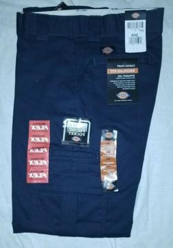 work pants navy blue cargo 32x34