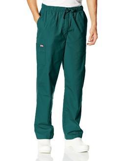 Cherokee Workwear Scrubs Men's Cargo Pant, Hunter, Large