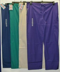 Cherokee Workwear Scrubs Pants Unisex Men Women Drawstring C
