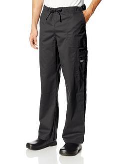 Cherokee Workwear Scrubs Unisex Stretch Cargo Pant, Black, X