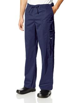 Cherokee Workwear Scrubs Unisex Stretch Cargo Pant, Navy, XX