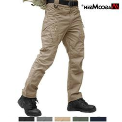 Zipper Pockets IX9 Mens Cargo Combat Work Trousers Military