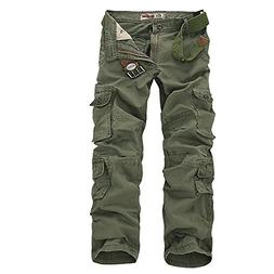 ZiuZi Mens Loose Fit Cotton Casual Military Army Cargo Camo